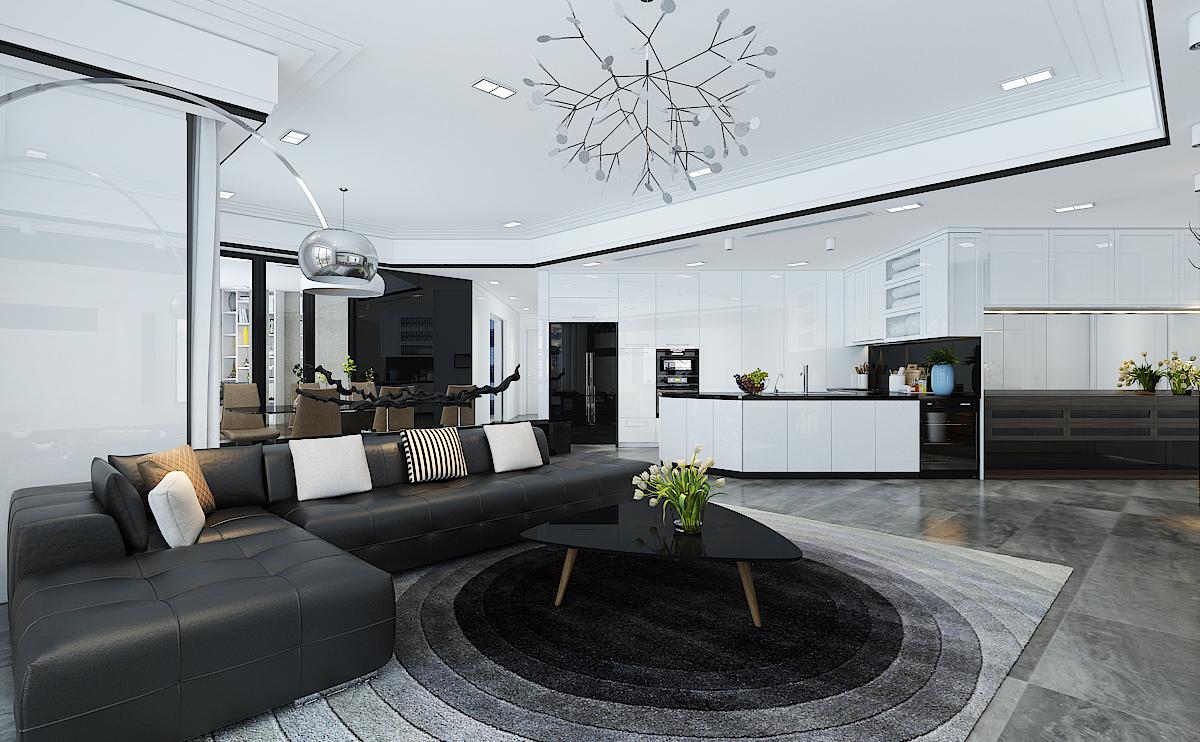 thiết kế nội thất phòng khách cao cấp